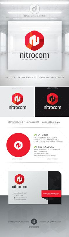 Nitrocom Logo (JPG Image, Vector EPS, AI Illustrator, Resizable, CS, agency, box, brand, branding, colorful, cube, cubic, firm, group, hexagon, hexagonal, identity, it, letter, letter n, mobile, modern, n, n letter, N logo, net, nitro, nova, professional, solution, studio, style, techno, technologies)