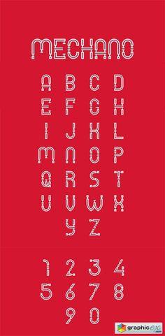 Mechano - Industrial Font