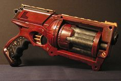 Another Nerf Maverick gun mod - I really like the red variation on this versus all the pewter/copper/brass I usually see...