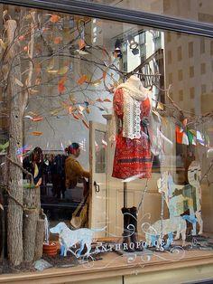 Love Anthropologie!! Cute window display