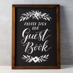Items similar to Guest Book Chalkboard on Etsy Chalkboard Hand Lettering, Chalkboard Designs, Chalkboard Art, Guest Book Sign, Wedding Guest Book, Our Wedding, Wedding Ideas, Wedding Letters, Wedding Signage