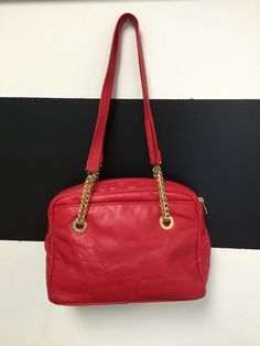 Giani Bernini red leather