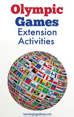 Olympic activities for kids aren't just about watching the events. Incorporate world geography, foreign language, science, math & more. Social Studies Activities, Kindergarten Activities, Book Activities, Activities For Autistic Children, Olympic Idea, Museum Education, Lessons For Kids, Coloring Books, Geography