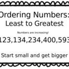Print on colored paper for best results! Laminate and Display! Number Anchor Charts, Ordering Numbers, Colored Paper, Second Grade, Display, Math, School, Floor Space, Billboard