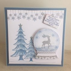 Chloe - Snowglobe collection Fall Cards, Christmas Cards, Chloes Creative Cards, Stamps By Chloe, Crafters Companion Cards, Card Io, Christmas Inspiration, Handmade Christmas, Projects To Try