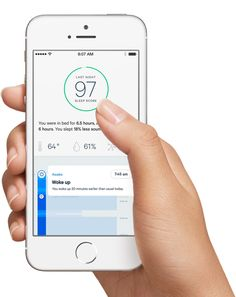 Hello is a sleep monitoring app that helps you determine your sleeping patterns and habits, and if you're really getting the sleep you need. A sensor attaches to your pillow, while another monitors your surroundings (such as light, noise, temperature), to give you the low-down on the quality of sleep you get.
