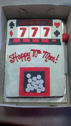 11 best slot machine cake images in 2016 Jack O'connell, Slot Car Tracks, Slot Cars, Decoration Birthday, Cake Aux Raisins, Party Poker, Las Vegas, Slot Machine Cake, Slot Canyon