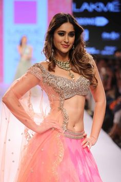 #LFW15 the lovely @Ileana_Official D'Cruz in Anushree Reddy #Lehenga https://www.facebook.com/pages/Anushree-Reddy/1419054871703391