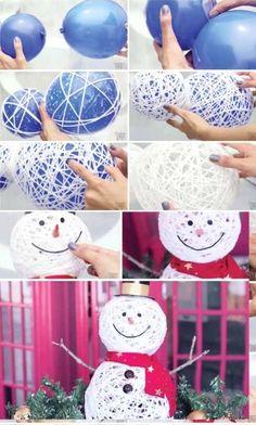 50 Best DIY Snowman Christmas Decorations Ideas I Love Pink,