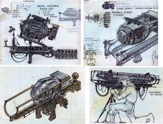 All sizes | Fatman01 | Flickr - Photo Sharing! Fallout Concept Art, Weapon Concept Art, Game Concept, Fallout Weapons, Fallout Art, Alien Blaster, Combat Shotgun, Shoulder Armor, Nuclear War