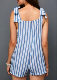 Bottoms For Women Cute Summer Outfits, Casual Outfits, Cute Outfits, Girl Fashion, Fashion Dresses, Womens Fashion, Fashion Design, Diy Shorts, Stripe Print