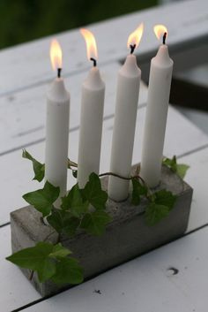 Crazy simple concrete candleholder