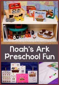 Noah's Ark Preschool Fun from @Carisa Brown {1plus1plus1}