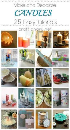 25 Ideas To Create Decorative Candles  (projects, crafts, DIY, do it yourself, interior design, home decor, fun, creative, uses, use, ideas, inspiration, 3R's, reduce, reuse, recycle, used, upcycle, repurpose, handmade, homemade, materials, create, leftovers)