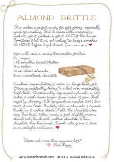 Almond Brittle   Susan Branch Blog