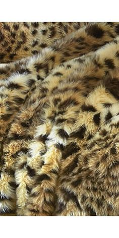 Luxurious Leopard faux fur, $149/yd