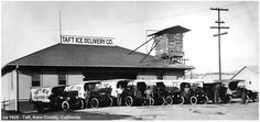 Taft Ice Delivery, Kern County, circa 1920.