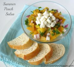 Dollhouse Bake Shoppe: Simple Summer Peach Salsa (this looks delicious!)