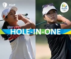 Xiyu Lin #CHN and Lydia Ko #NZL make history with the first two aces in Women's Olympic #Golf!  Lydia Ko, Olympic Golf and LPGA