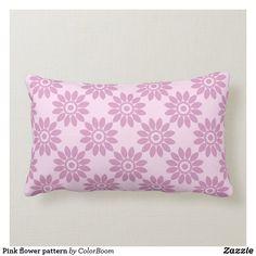 Pink flower pattern lumbar pillow Lumbar Pillow, Bed Pillows, Pink Cushions, Flower Pillow, Soft Light, Decorative Cushions, Custom Pillows, Flower Patterns, Pink Flowers