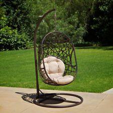Oudoor Patio Furniture Modern Design Swinging Egg Wicker Chair