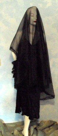 Black Dramatic Sheer  Beautiful Lace Floor Length by SteampunkWEAR, $45.00