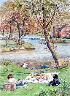 'A splendid day': The Thames at Cookham Dean provided Kenneth Grahame with the setting for 'The Wind in the Willows'