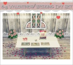 TS2 to TS4: 8-3 Valentine's/Wedding Day Set | Sims 4 Designs