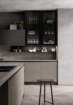 Modern Home Decor Kitchen 2019 on Behance.Modern Home Decor Kitchen 2019 on Behance Kitchen Room Design, Modern Kitchen Design, Interior Design Kitchen, Kitchen Decor, Interior Decorating, Minimal Kitchen, Kitchen Ideas, Küchen Design, Layout Design