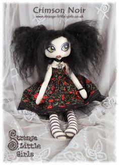 Art 'Crimson Noir' - by Jo Hards from Gothic art dolls