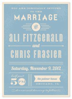 Typography for wedding invite