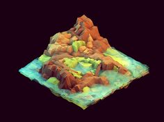 It is easy to imagine fantasy as physical and myth as real. Low-poly, isometric worlds by Tim Reynolds — Designspiration Isometric Art, Isometric Design, Game Environment, Environment Concept Art, Environment Design, Game Design, 3d Design, Logo Design, Low Poly Games