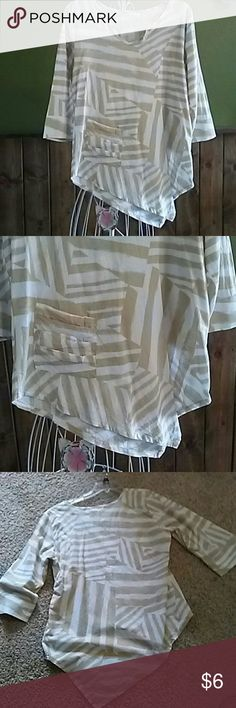 Tunic White and beige tunic produce co Tops Tunics