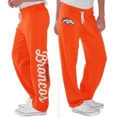 Women's Denver Broncos G-III 4Her by Carl Banks Orange Scrimmage Fleece Pants