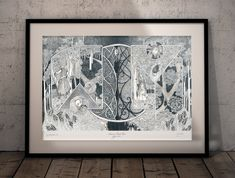 I have opened a shop on Etsy. Now you can have limited edition prints from Arkanum. Limited Edition Prints, Canning, Night, Frame, Artwork, Shop, Etsy, Home Decor, Picture Frame