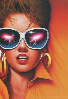 chromeandlightning:  Keizo Tsukamoto 85 New Retro Wave, Retro Waves, Airbrush Art, Retro Art, Vintage Art, Evvi Art, 1980s Art, Arte Black, Arte Sci Fi