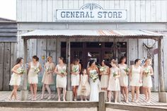 Wedding Party | Bride | Bridesmaids | Maid of Honor | Flower Girl | General Store | Outdoors | Wedding Ideas | Wedding Inspiration | Wedding Photography | Wedding Photographers | Rustic Wedding Pictures | Jeffrey B. Profile
