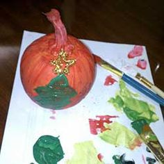 Holiday Family Activity Idea, Day 28: Paint some pumpkins. Halloween is over, but squash is still in season! Head to your local farmers market and pic up some squash and put paint, stickers, glue, glitter, etc. on it. Great fun and great home decor!