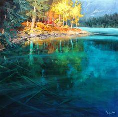 Illuminate My Day by Linda Wilder Acrylic ~ 40 x 40
