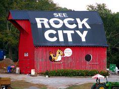 The Rock City barn