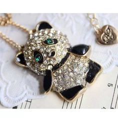 Jewelry - Panda bear necklace(NWT)price Firm!