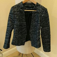 Graham and Spencer metallic tweed blazer NWT Bought from the Graham and Spencer website, realized the style didn't work well on me but it's a great piece. Never worn in new condition. Size is petite. Graham and Spencer Jackets & Coats Blazers