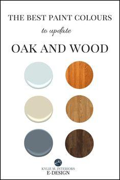 The 15 Best Paint Colours to Update Oak or Wood: Trim, floor, cabinets – Giovanna Perez – Diy Tan Paint Colors, Kitchen Paint Colors, Paint Colors For Living Room, Paint Colors For Home, Paint For Kitchen Walls, Cabinet Paint Colors, Neutral Paint, Bedroom Colors, Wood Colors