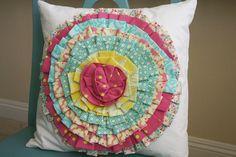 fabric flower pillow