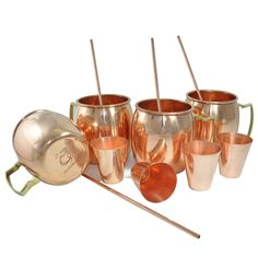DakshCraft ® Cocktail Moscow Mule Mug (Capacity 17 oz) with FREE Copper Shot Glass (Capacity – 2 oz pr glass) & Copper Straw, Set of 4: Amazon.com: Home & Garden