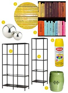 Get the Look: Yellow Etageres