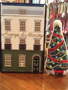 A Christmas Carol Tree and Store, Kirk & Bradley needlepoint