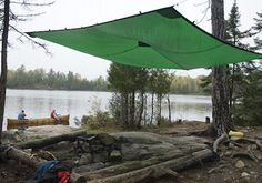 Camping requirement (Required If Not Earned Before) -- With other members of your Unit, correctly pitch a dining fly, tarp, or other type of covering. Bushcraft Camping, Camping Tarp, Bushcraft Skills, Survival Skills, Campsite, Tarp Shelters, Outdoor Shelters, Survival Shelter, Wilderness Survival