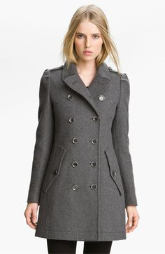 Burberry Brit Wool Blend Coat available at #Nordstrom(pleated back bottom half)