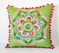 20x20 Inches Green Turkish Round Decorative by prettysurprise, $36.00